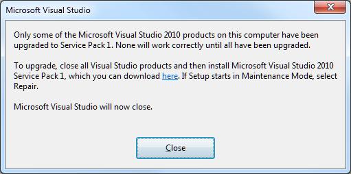 vs studio 2010 sp1