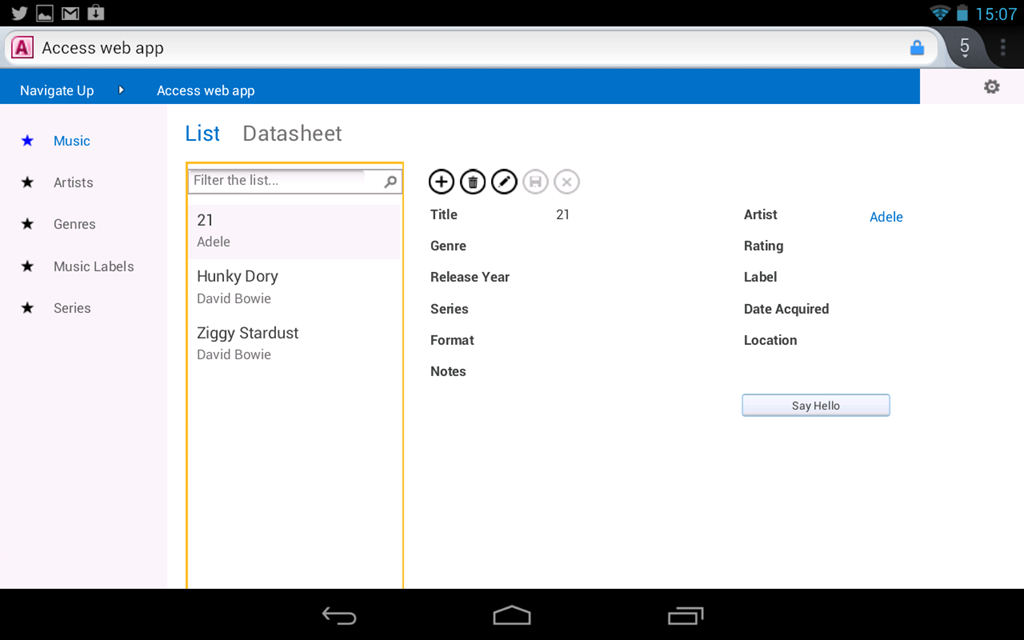 Access Web App: at last a simple web database app builder from ...