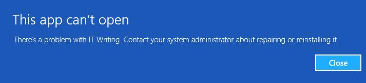 Windows 8 sideloading and Embarcadero's Metropolis fake-WinRT
