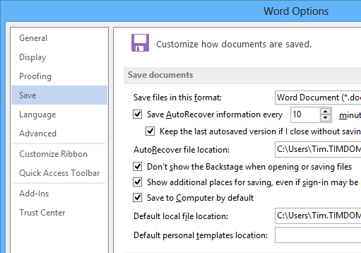 Why custom templates might not appear in Word 2013 « Tim ...