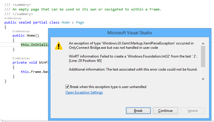 How to crash your Windows Store XAML app | Tim Anderson\'s IT Writing