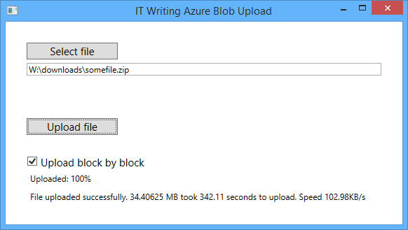 Notes from the field: putting Azure Blob storage into