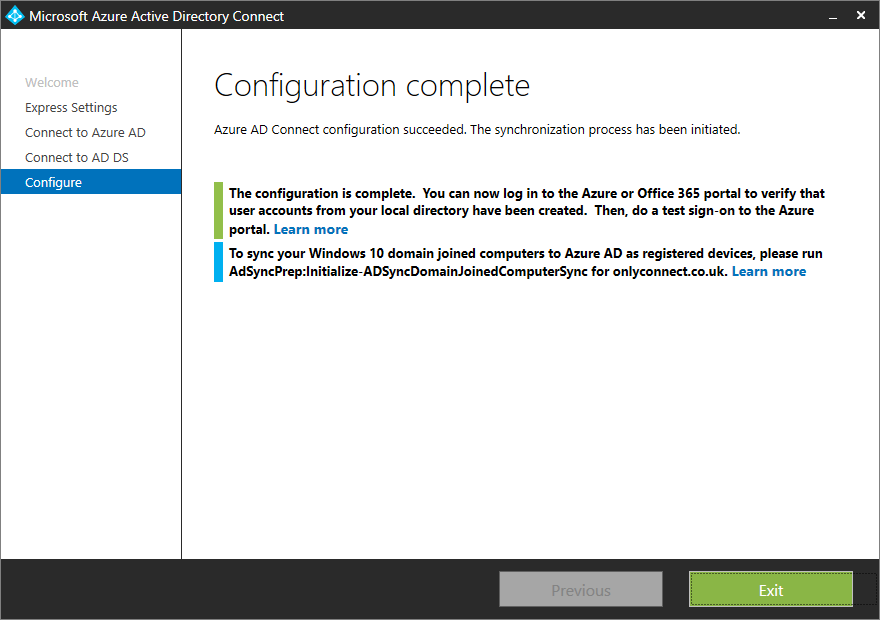 Hands on with Microsoft's ADConnect | Tim Anderson's IT Writing