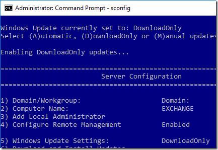 Disabling automatic update restarts in Windows Server 2016