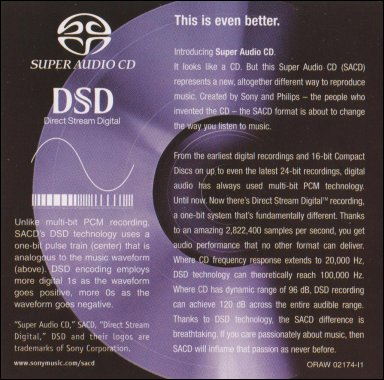 Is high-resolution audio (like SACD) audibly better than