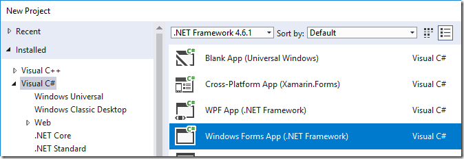 Which  NET framework for Windows: UWP, WPF or Windows Forms