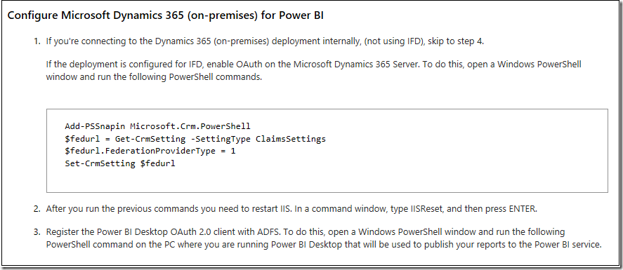 Want to connect PowerBI to Dynamics 365 CRM on-premises? Good luck