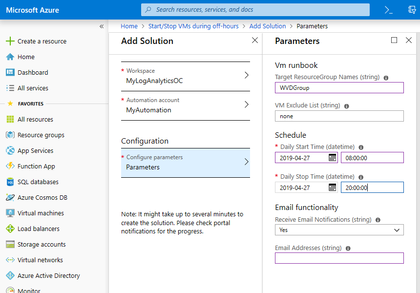 A post that can save you money: scheduling Azure Virtual